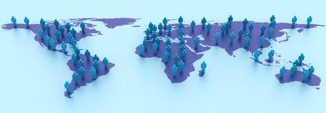 Global Teamwork. Three dimensional illustration of Teamwork around the world Stock Images