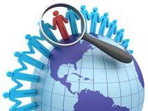 Global Teamwork. Three dimensional illustration of Teamwork around the world Royalty Free Stock Image