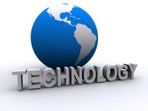 Global technology. With the planet Earth Royalty Free Stock Photo
