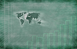 Global Technology Background. Background featuring world map, graphs and technology Stock Image