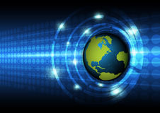Global technology concept background Stock Images