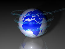 Global Technology Concept (europe) Royalty Free Stock Image
