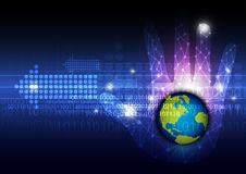 Global technology in hand Royalty Free Stock Image
