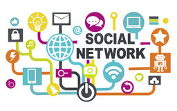 Global Technology Networking Connection Communication Concept Royalty Free Stock Image