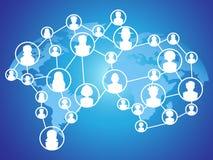 Global technology social network Stock Image