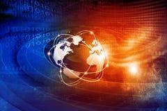 global teknologi för kommunikation Arkivbild