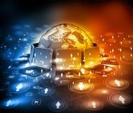 global teknologi för kommunikation royaltyfri illustrationer