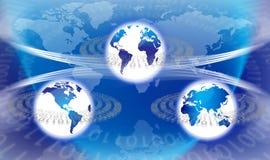 global teknologivärld royaltyfri illustrationer
