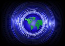 Global telecom. Global telecom, future technology background Royalty Free Stock Image