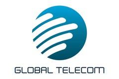 Global telecom. Logo design of circle forward company Royalty Free Stock Photos