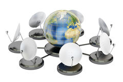 Global telecommunications concept, 3D rendering Royalty Free Stock Photography