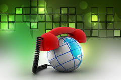 Global telecommunications concept Stock Image