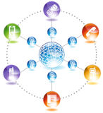 global telefon stock illustrationer