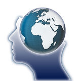 Global thinking concept image Stock Photos