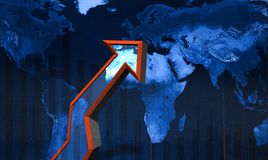 Global tillväxtpil arkivfoto