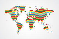 Global togetherness. Colorful vector illustration of togetherness concept of the world Stock Images