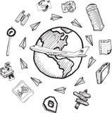 Global tourism doodles Stock Photography
