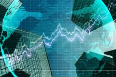 Global trade and analytics concept stock photos