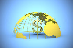 Global trade. 3d illustration of currency symbols Stock Image