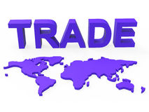 Global Trade Represents Planet Earth And Purchase Stock Image