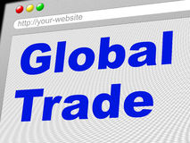 Global Trade Shows Commerce Globalize And E-Commerce Royalty Free Stock Photo
