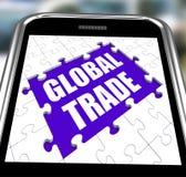 Global Trade Smartphone Shows Web International Stock Photography