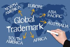 Global Trademark royalty free stock photos