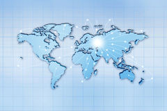 Global traffic and comminications Royalty Free Stock Photo