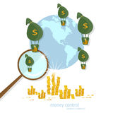 Global transactions transfer banking business finance Stock Photos