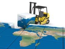 Global transportation Royalty Free Stock Images
