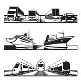 Global transportation set Royalty Free Stock Image