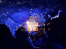 Global travel Stock Image