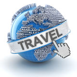 Global travel, 3d render Stock Image