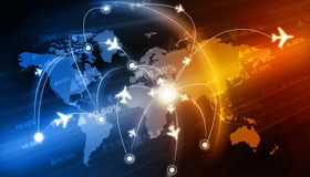 Global travel network Royalty Free Stock Photos