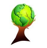 global tree Royaltyfri Foto