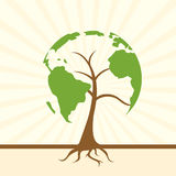 Global tree Royalty Free Stock Images