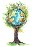 global tree Royaltyfria Bilder