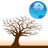 Global Tree background Royalty Free Stock Photos