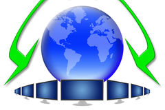 Global tv Royalty Free Stock Photos