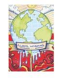 Global uppvärmning c Arkivbild