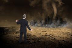 Global uppvärmning klimatförändring, apokalyps Royaltyfria Foton