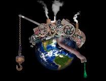 Global uppvärmning klimatförändring, förorening arkivbild