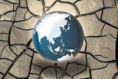 Global uppvärmningbegrepp - fotosättning med bild från NASA vektor illustrationer