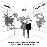 Global utvidgning för advokatbyrå Royaltyfria Bilder