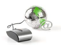 global värld för klickkommunikationer Royaltyfri Fotografi