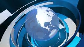 Global världsanimering för teknologi 3D (HD-öglan) stock illustrationer