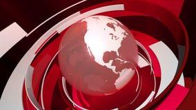 Global världsanimering för teknologi 3D (HD-öglan) vektor illustrationer