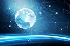Global världsnätverksbakgrund Arkivbild