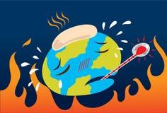 global värme för förorening Arkivfoton