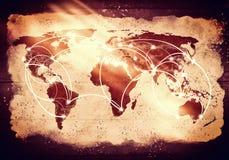 Global växelverkan Arkivfoto